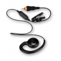 CLP/CLK SINGLE PIN SHORT CORD EARPIECE W/PTT, PVC FREE